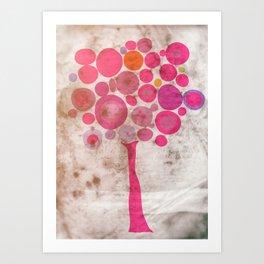 Fucsia tree Art Print