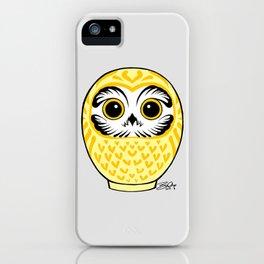 Yellow Fukuro Daruma iPhone Case