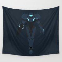 samus Wall Tapestries featuring Samus(Smash)Dark Samus by ejgomez