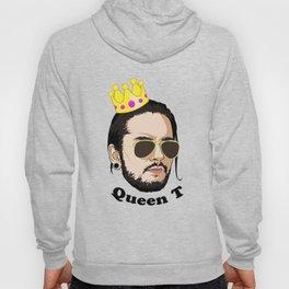 Queen T - Black Text Hoody