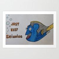 Dori Just Keep Swimming Art Print