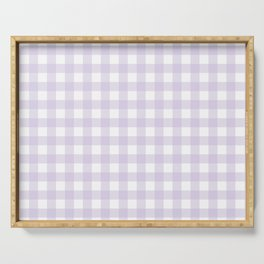 Lilac gingham pattern Serving Tray