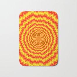 Big Bang in Red and Yellow Bath Mat