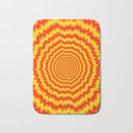 Big Bang in Red and Yellow Bath Mat