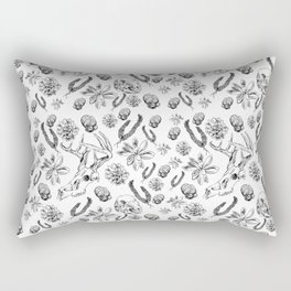 Skulls and Succulents Rectangular Pillow