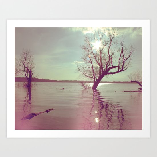 Peaceful Lake! Art Print