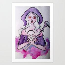 Lady Grim Reaper Art Print