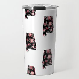 Alabama university of alabama crimson tide floral college football pattern gifts Travel Mug
