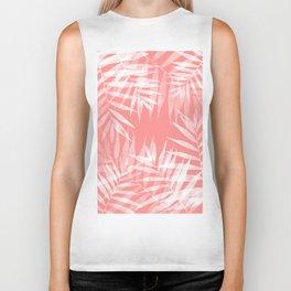 Living Coral Palms Biker Tank
