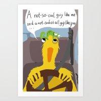 Rock Duck not cool Art Print