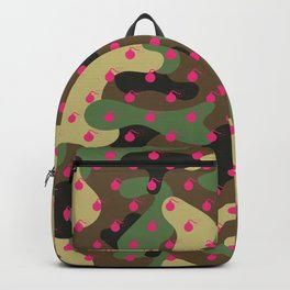 CAMO & HOT PINK BOMB DIGGITYS ALL OVER LARGE Backpack