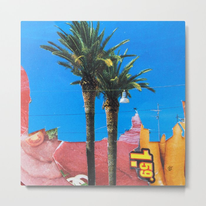 Meat Dream Party Land Series · Meat Desert City Dream Town · QV Metal Print