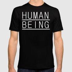 Human Mens Fitted Tee Black MEDIUM