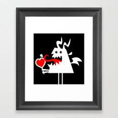 My lovely Valentine Framed Art Print