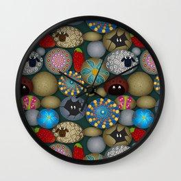 Rock Painting Wall Clock