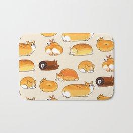 Bread Corgis Bath Mat