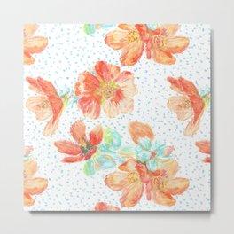 Desert Mallow floral pattern Metal Print