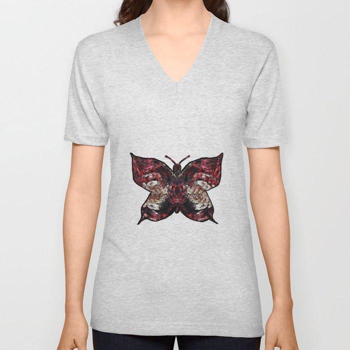 Butterfly fractal Unisex V-Neck