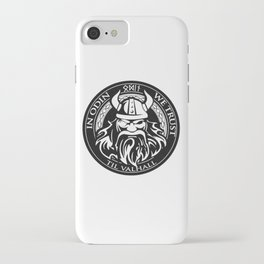 In Odin we trust - The king of Valhalla iPhone Case