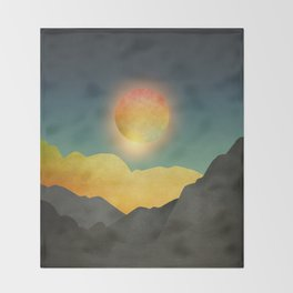 Surreal sunset 01 Throw Blanket
