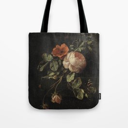 Botanical Rose And Snail Tote Bag