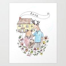 New Family Art Print