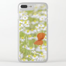 Field of Daisies and the Lonely Poppy Clear iPhone Case