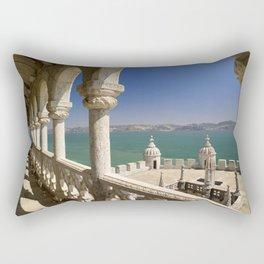The Torre de Belem and river Tejo, Lisbon, Portugal Rectangular Pillow