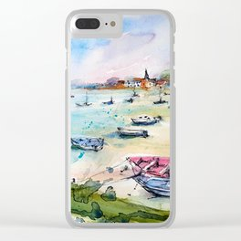 Bosham in Sussex UK Seaside watercolour painting by Lynn Ede Clear iPhone Case