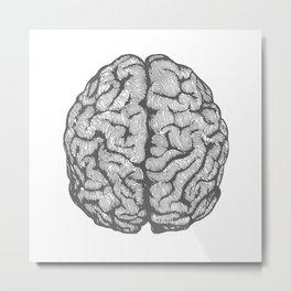Brain vintage illustration Metal Print