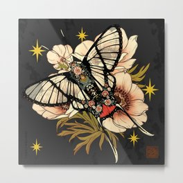 Andean Bee Butterfly Metal Print
