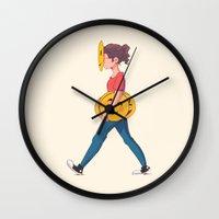 emoji Wall Clocks featuring Emoji Expression by DanniSketches