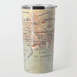 Vintage Map of Cannes France (1921) Travel Mug