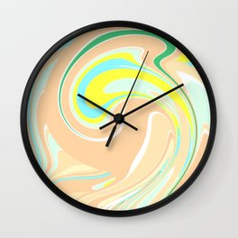 Abtsract Wave Pattern Wall Clock