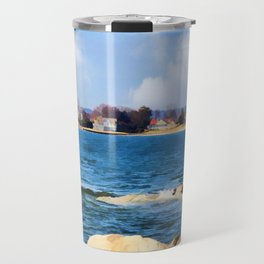 New England Shoreline - Painterly Travel Mug