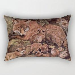 Vintage Fox and Cuba Painting (1909) Rectangular Pillow