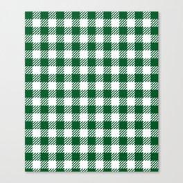Green Vichy Canvas Print