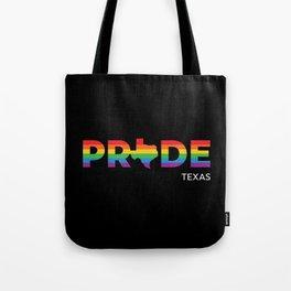 Texas LGBTQ Pride (Black) Tote Bag