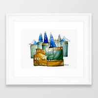 castle Framed Art Prints featuring Castle by Irina  Mushkar'ova