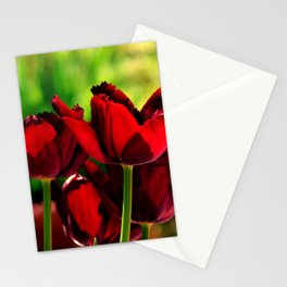 4 Ever Love -- Spring Botanical Ruby Red Tulips Stationery Cards