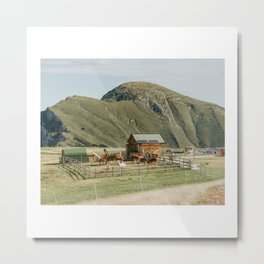 Farm in the mountains Metal Print