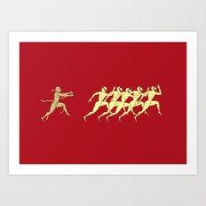 Ancient greece - red Art Print