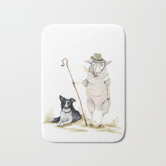 Sheepherd Sheep Bath Mat