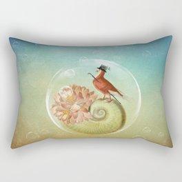 Living in a bubble Rectangular Pillow