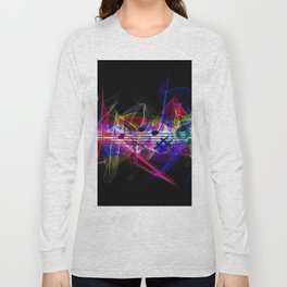 Colorful musical notes and scales artwork Long Sleeve T-shirt