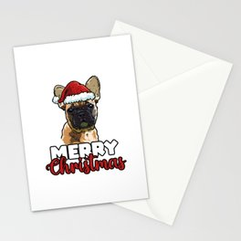 Merry Christmas French Bulldog Dog Lover Gift Stationery Cards