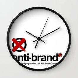 anti-brand® Wall Clock