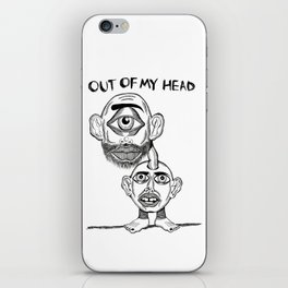 OUT OF MY HEAD iPhone Skin