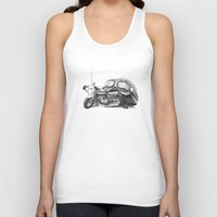cafe racer Tank Tops featuring Cafe Racer II by Rainer Steinke