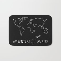 Adventure Map Bath Mat
